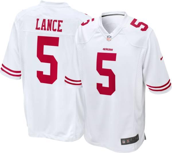 Nike Men's San Francisco 49ers Trey Lance #5 White Game Jersey product image