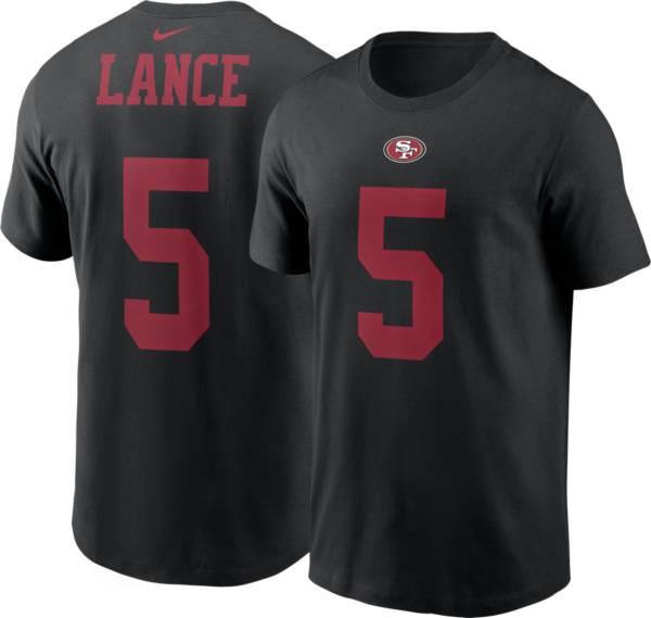Nike Men's San Francisco 49ers Trey Lance #5 Black T-Shirt product image