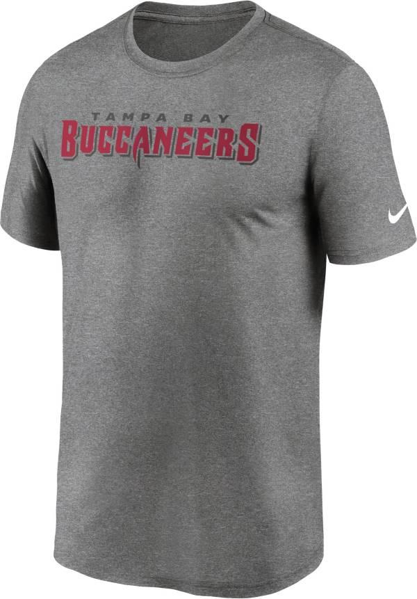 Nike Men's Tampa Bay Buccaneers Legend Wordmark Performance Grey T-Shirt product image