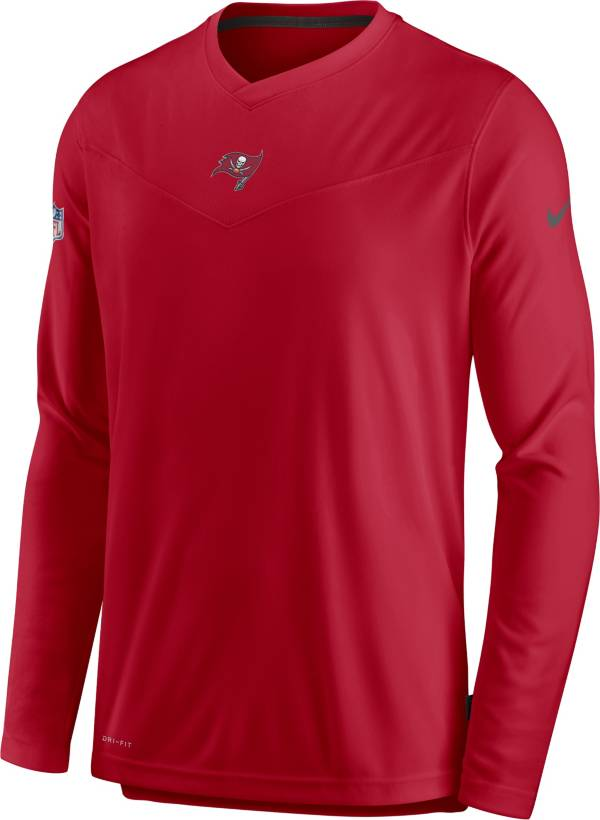 Nike Men's Tampa Bay Buccaneers Sideline Coaches Red Long Sleeve T-Shirt product image