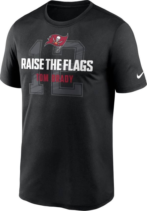 Nike Men's Tampa Bay Buccaneers Tom Brady 12 Raise The Flag Black T-Shirt product image