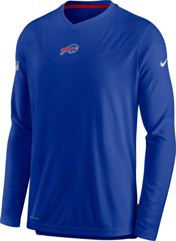 Nike Men's Buffalo Bills Sideline Coaches Royal Long Sleeve T-Shirt product image