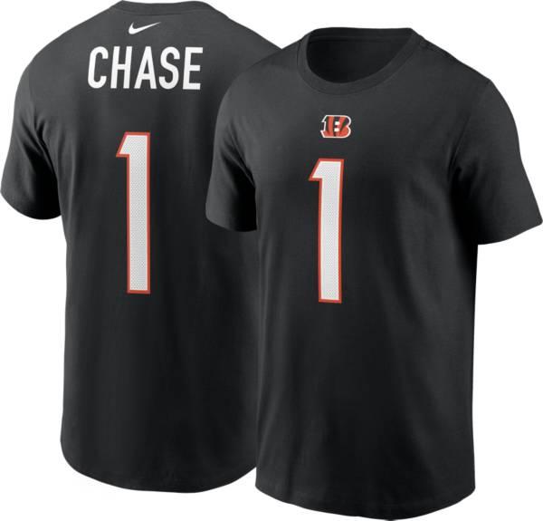 Nike Cincinnati Bengals Ja'Marr Chase #1 Black Short-Sleeve T-Shirt product image