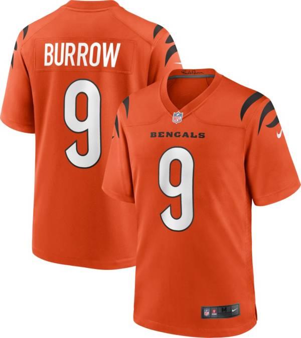 Nike Men's Cincinnati Bengals Joe Burrow #9 Alternate Orange Game Jersey product image