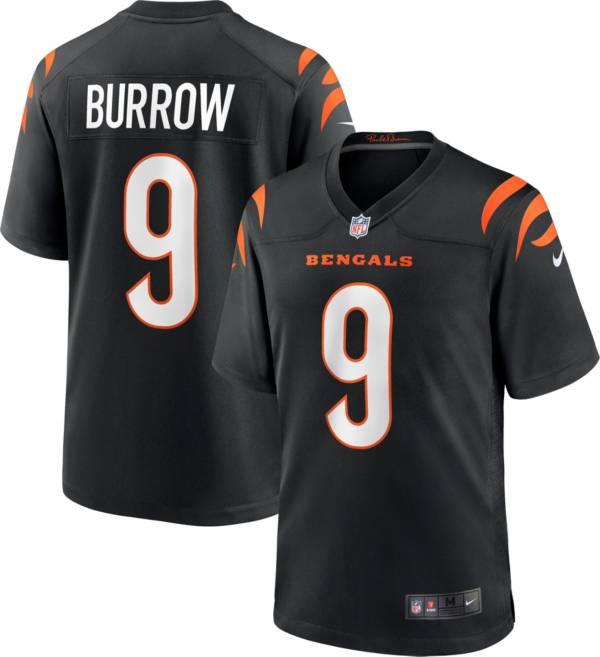 Nike Men's Cincinnati Bengals Joe Burrow #9 Black Game Jersey product image