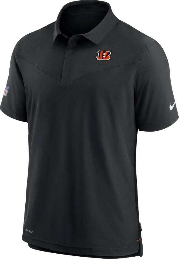 Nike Men's Cincinnati Bengals Sideline Coaches Black Polo product image