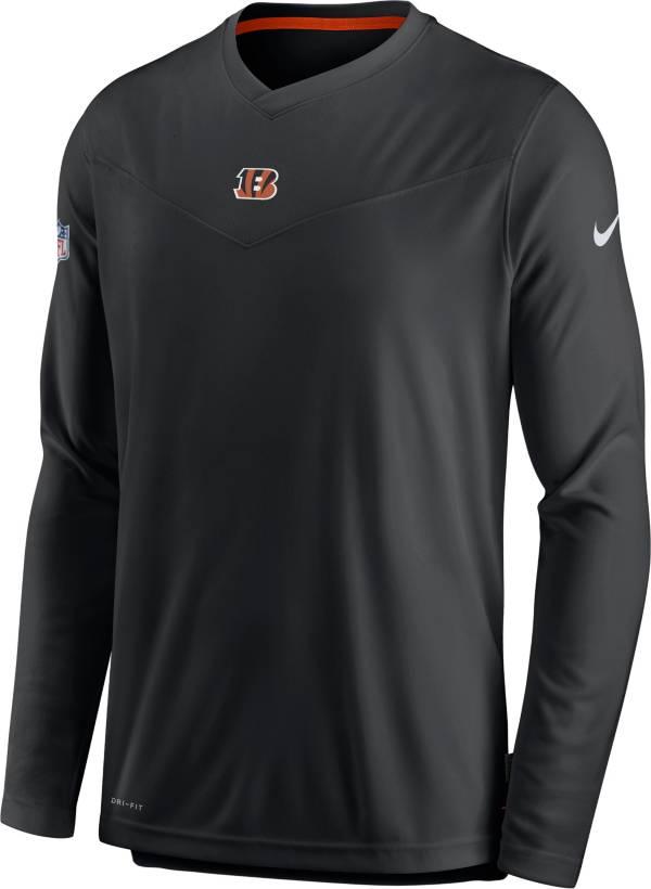 Nike Men's Cincinnati Bengals Sideline Coaches Black Long Sleeve T-Shirt product image