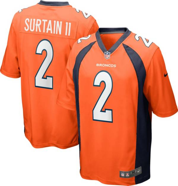 Nike Men's Denver Broncos Patrick Surtain II Orange Game Jersey product image
