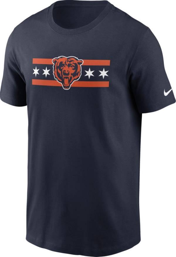 Nike Men's Chicago Bears Bear Flag Navy T-Shirt product image
