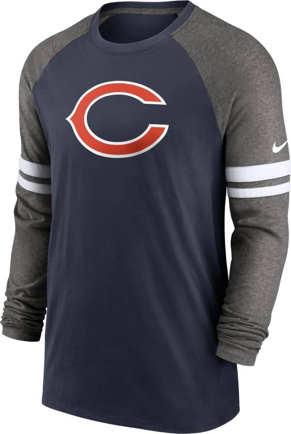 Nike Men's Chicago Bears Dri-FIT Navy Long Sleeve Raglan T-Shirt product image
