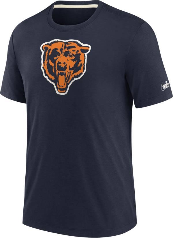 Nike Men's Chicago Bears Historic Tri-Blend Navy T-Shirt product image