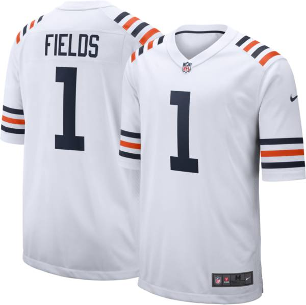 Nike Men's Chicago Bears Justin Fields #1 Alternate White Game Jersey product image