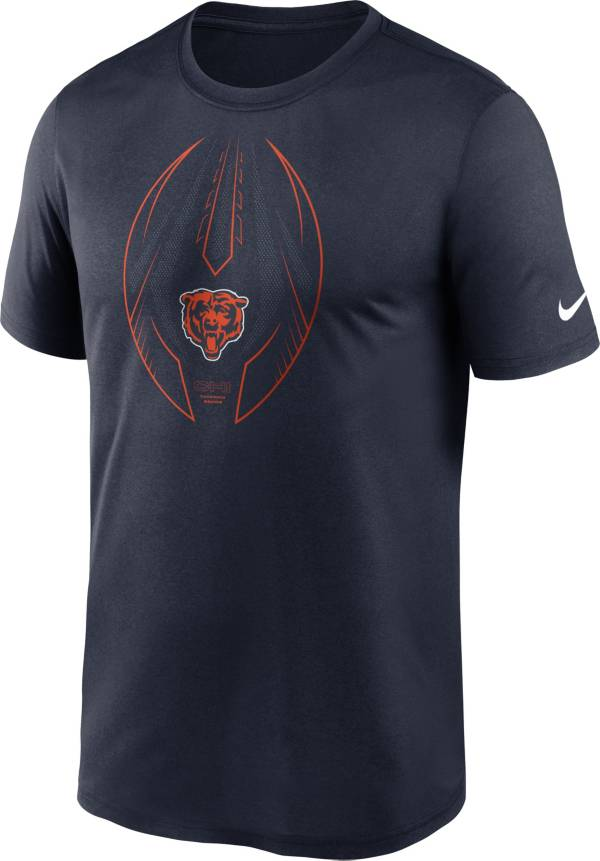 Nike Men's Chicago Bears Legend Icon Navy Performance T-Shirt product image