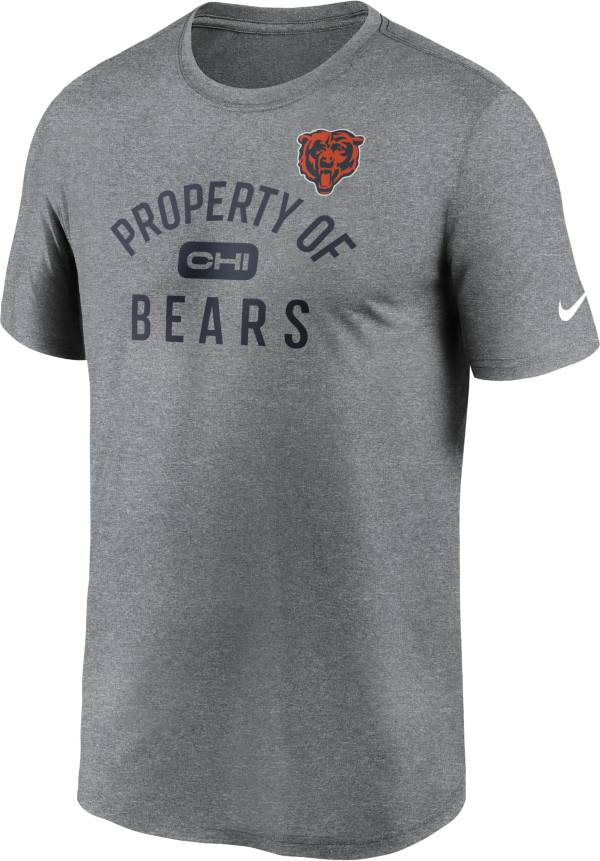 Nike Men's Chicago Bears Legend 'Property Of' Grey T-Shirt product image
