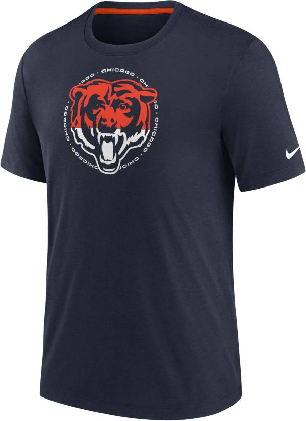 Nike Men's Chicago Bears Impact Tri-Blend Navy T-Shirt product image