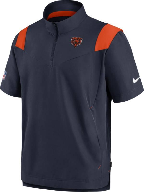Nike Men's Chicago Bears Coaches Sideline Short Sleeve Navy Jacket product image