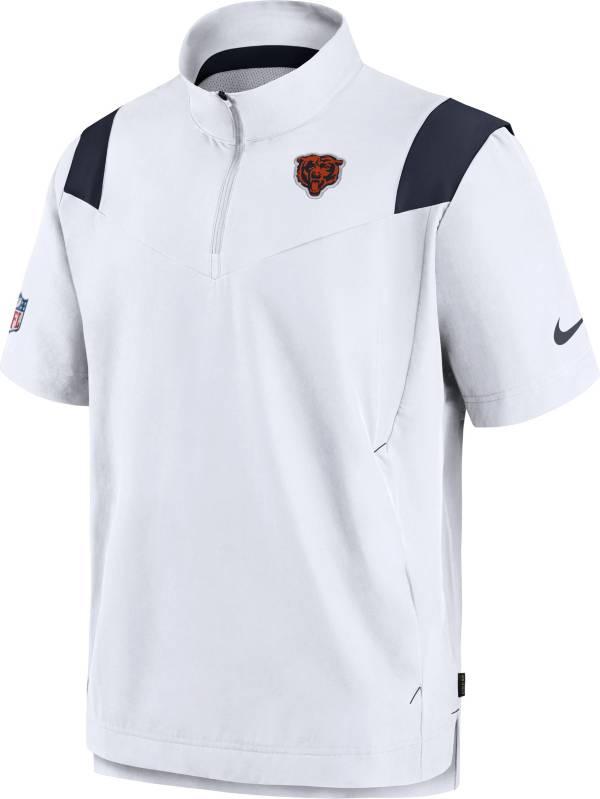 Nike Men's Chicago Bears Coaches Sideline Short Sleeve White Jacket product image