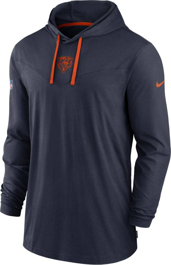 Nike Men's Chicago Bears Sideline Dri-FIT Hooded Long Sleeve Navy T-Shirt product image