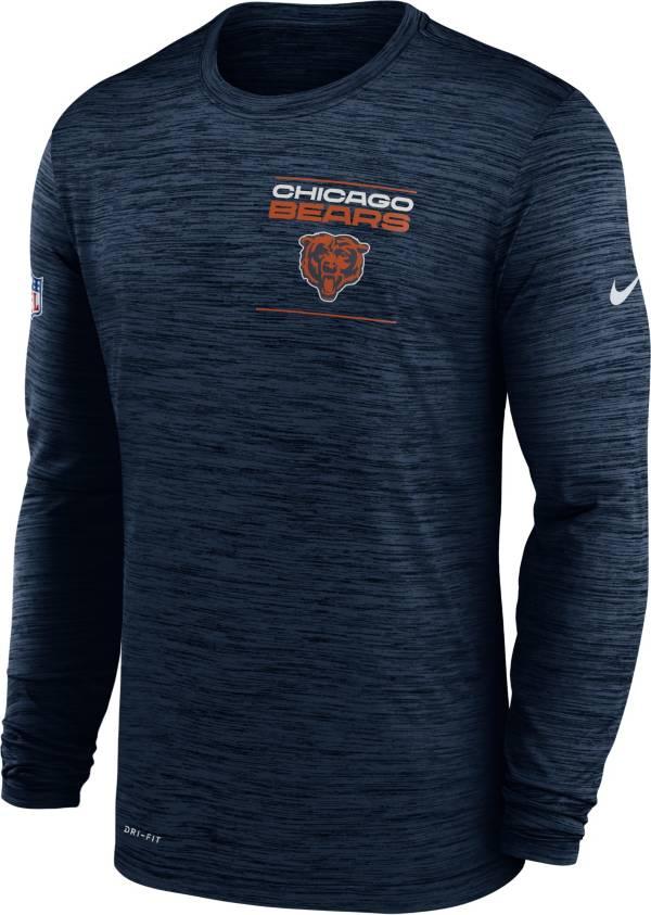 Nike Men's Chicago Bears Sideline Legend Velocity Navy Long Sleeve T-Shirt product image