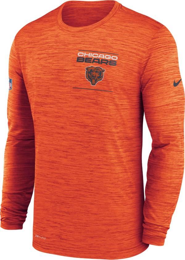 Nike Men's Chicago Bears Sideline Legend Velocity Orange Long Sleeve T-Shirt product image