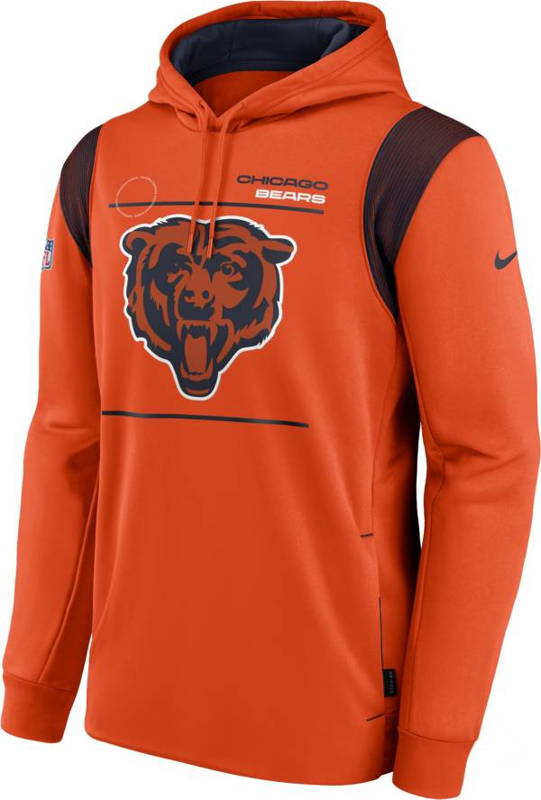 Nike Men's Chicago Bears Sideline Therma-FIT Orange Pullover Hoodie product image
