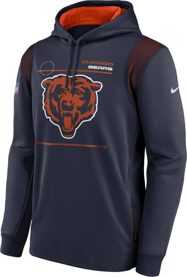 Nike Men's Chicago Bears Sideline Therma-FIT Navy Pullover Hoodie product image