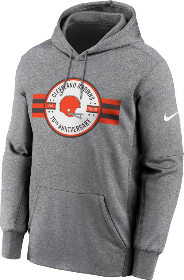 Nike Men's Cleveland Browns 75 Years Strong Grey Therma-FIT Hoodie product image