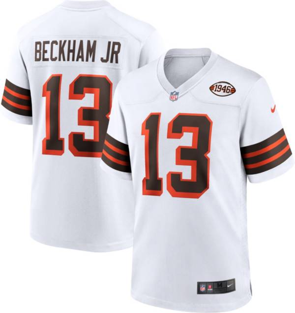 Nike Men's Cleveland Browns Odell Beckham Jr. #13 Alternate White Game Jersey product image
