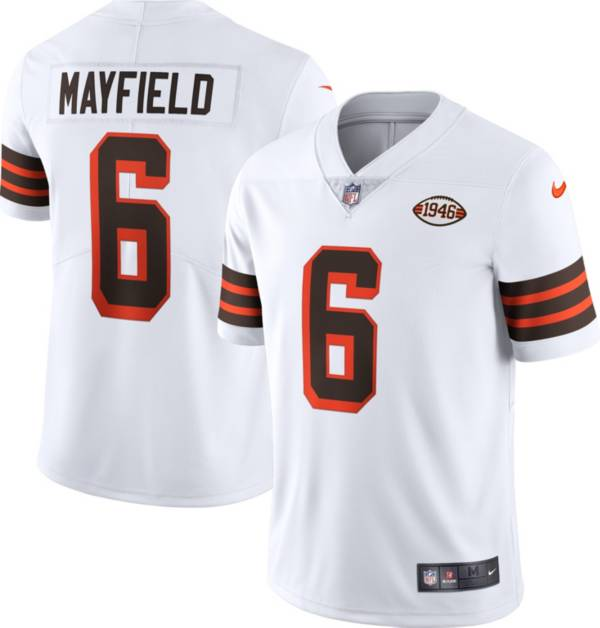 Nike Men's Cleveland Browns Baker Mayfield #6 Alternate White Limited Jersey product image