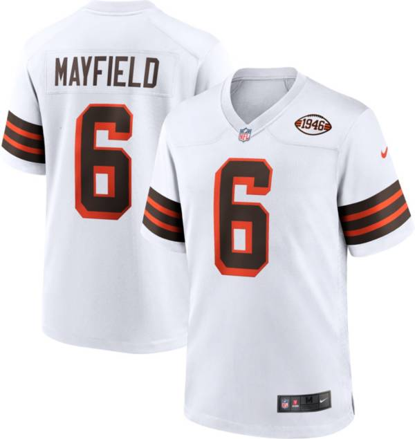 Nike Men's Cleveland Browns Baker Mayfield #6 Alternate White Game Jersey product image