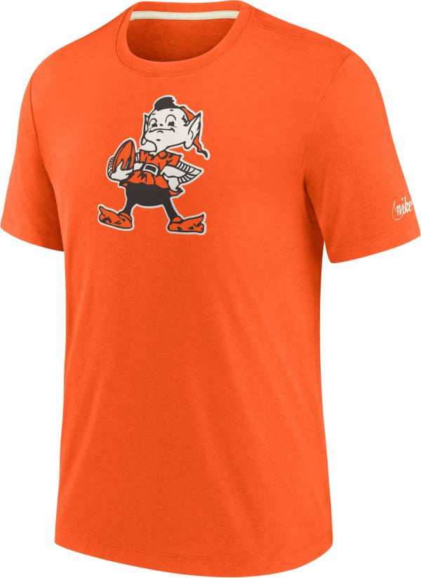 Nike Men's Cleveland Browns Historic Tri-Blend Orange T-Shirt product image