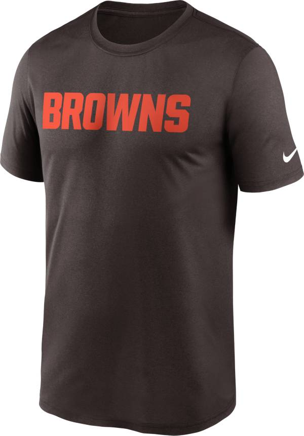 Nike Men's Cleveland Browns Legend Wordmark Brown Performance T-Shirt product image