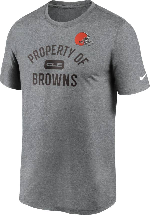 Nike Men's Cleveland Browns Legend 'Property Of' Grey T-Shirt product image