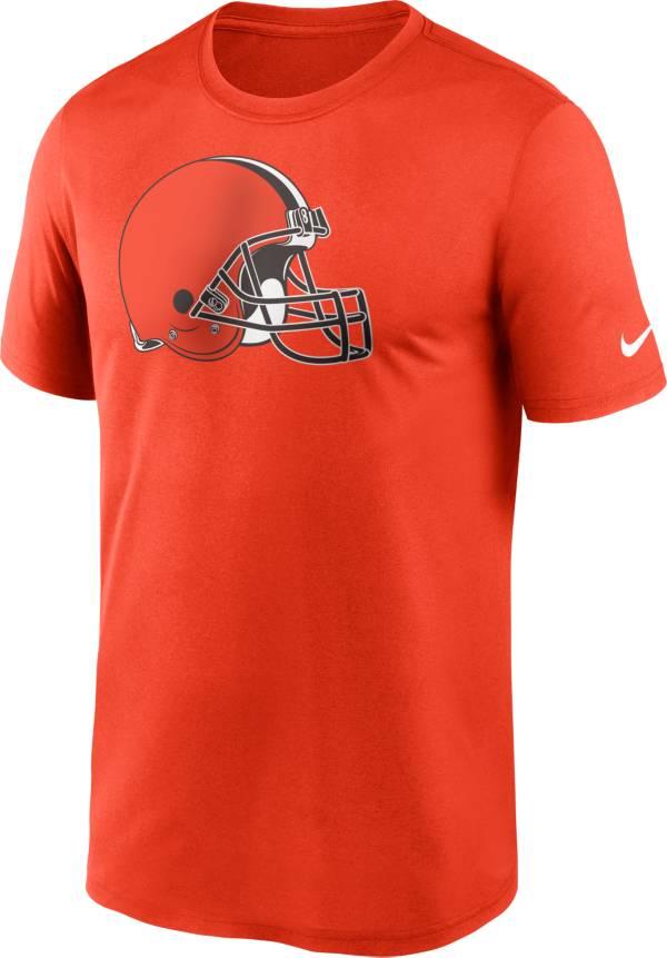 Nike Men's Cleveland Browns Legend Logo Orange T-Shirt product image