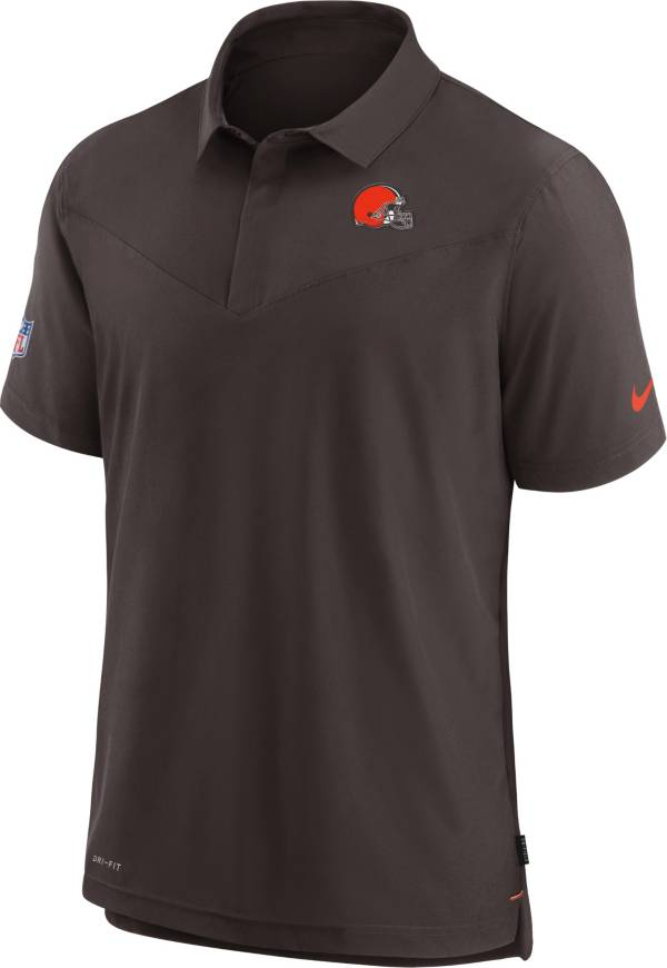 Nike Men's Cleveland Browns Sideline Coaches Brown Polo product image