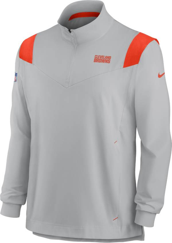 Nike Men's Cleveland Browns Coaches Sideline Long Sleeve Silver Jacket product image