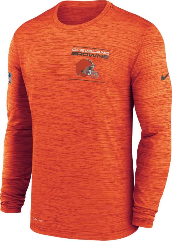 Nike Men's Cleveland Browns Sideline Legend Velocity Orange Long Sleeve T-Shirt product image