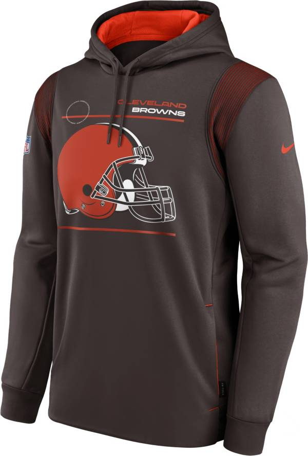 Nike Men's Cleveland Browns Sideline Therma-FIT Brown Pullover Hoodie product image