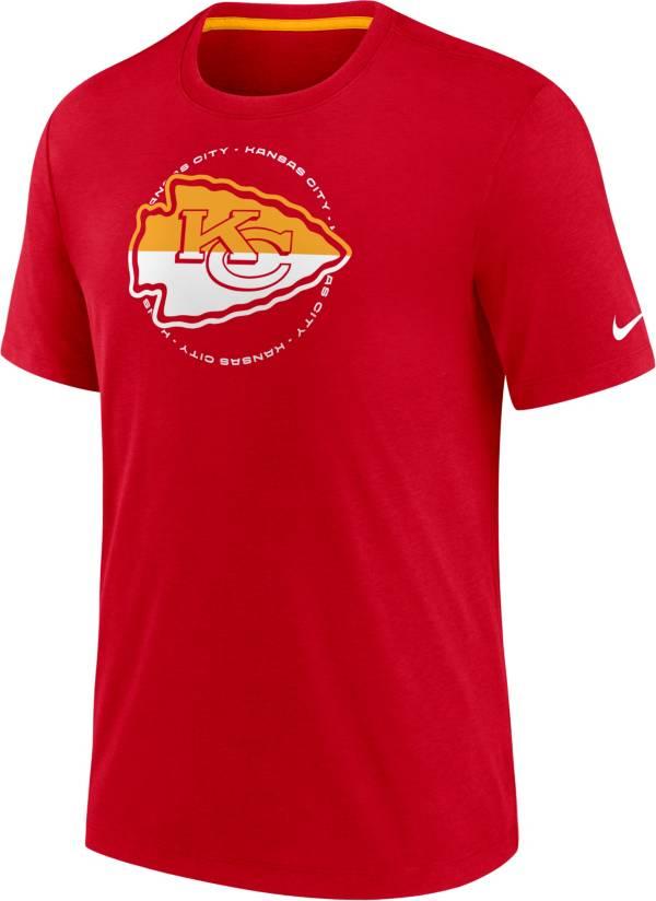 Nike Men's Kansas City Chiefs Impact Tri-Blend Red T-Shirt product image