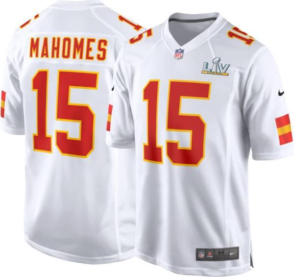 Nike Men's Kansas City Chiefs Patrick Mahomes #15 Super Bowl LV Bound Game Jersey product image