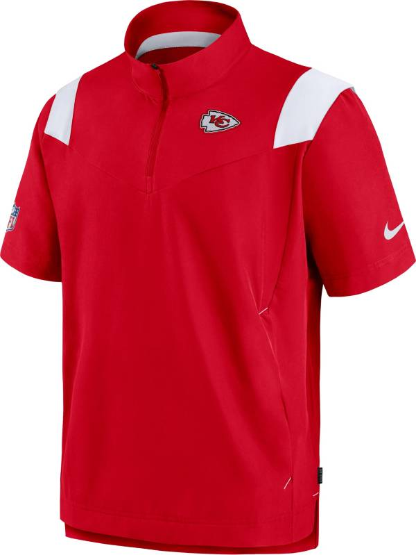 Nike Men's Kansas City Chiefs Coaches Sideline Short Sleeve Red Jacket product image