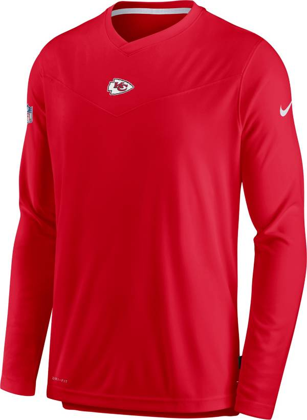 Nike Men's Kansas City Chiefs Sideline Coaches Red Long Sleeve T-Shirt product image