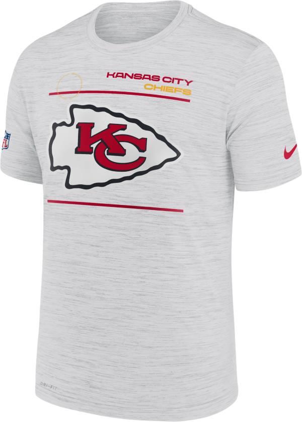 Nike Men's Kansas City Chiefs Sideline Legend Velocity White T-Shirt product image