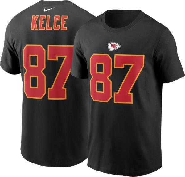 Nike Men's Kansas City Chiefs Travis Kelce #87 Black T-Shirt product image