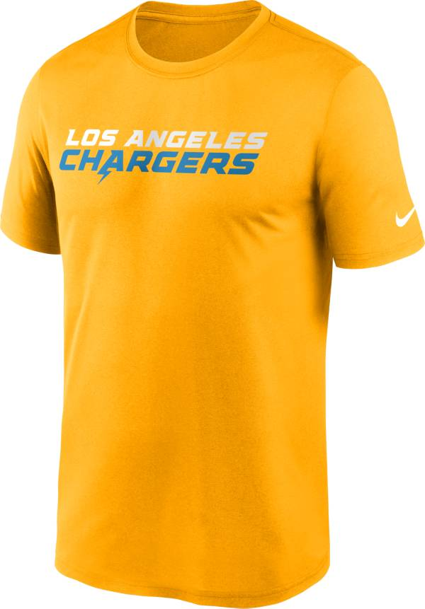 Nike Men's Los Angeles Chargers Legend Wordmark Gold Performance T-Shirt product image