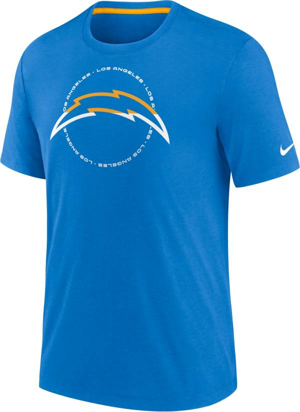 Nike Men's Los Angeles Chargers Impact Tri-Blend Blue T-Shirt product image