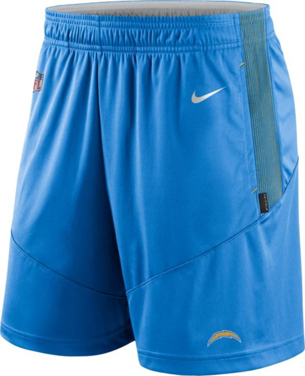 Nike Men's Los Angeles Chargers Sideline Dri-FIT Italy Blue Performance Shorts product image