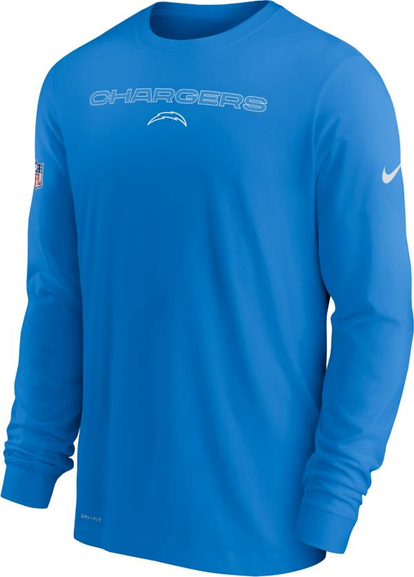 Nike Men's Los Angeles Chargers Sideline Team Issue Blue Long Sleeve T-Shirt product image