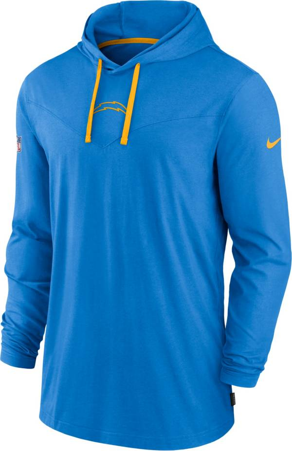 Nike Men's Los Angeles Chargers Sideline Dri-FIT Hooded Long Sleeve Blue T-Shirt product image