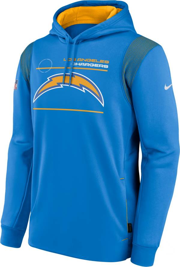 Nike Men's Los Angeles Chargers Sideline Therma-FIT Blue Pullover Hoodie product image